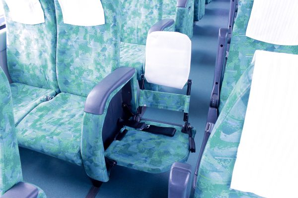 沖縄・貸切バス(中央交通)大型バス・車内