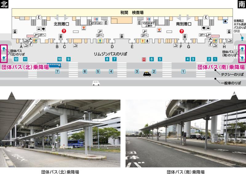 関西国際空港・第1ターミナル:団体バス乗降場