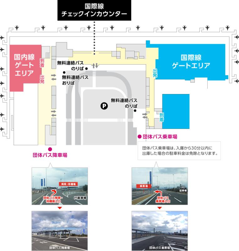 関西国際空港・第2ターミナル:団体バス乗降場